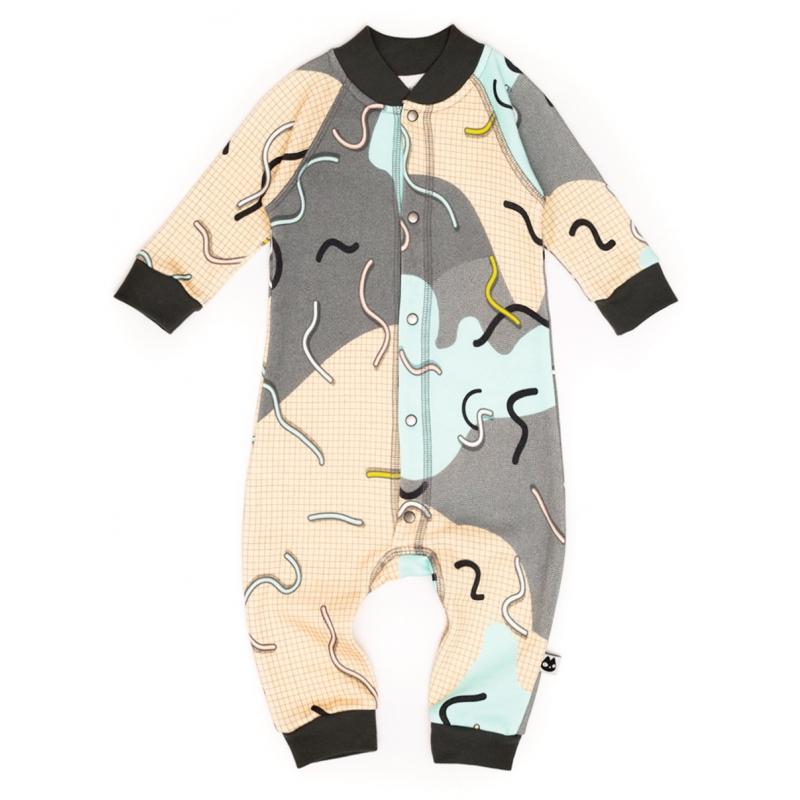 Doodle jumpsuit fleece