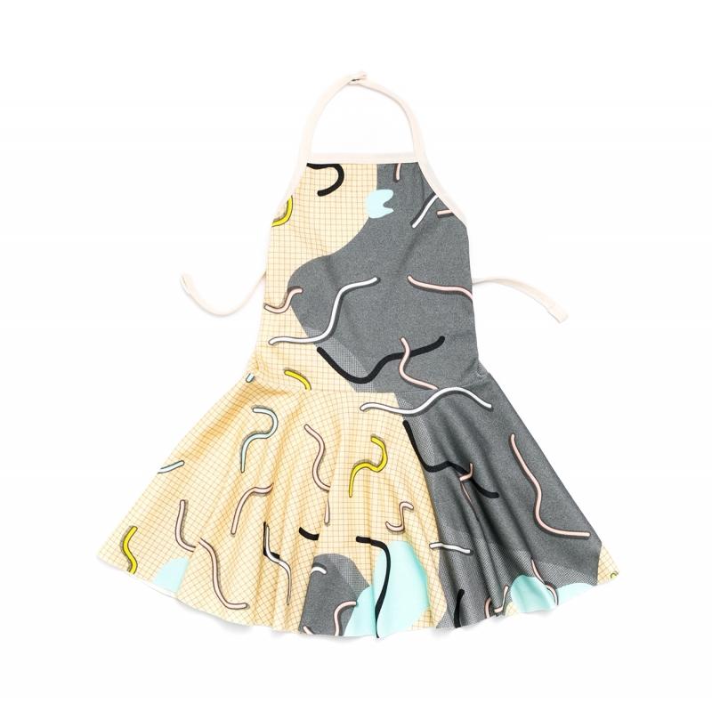 Doodle Vestido con espalda abierta
