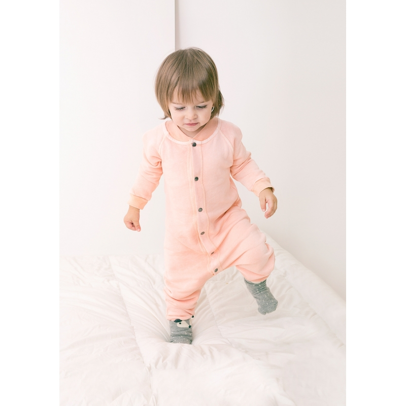 Salmon jumpsuit fleece