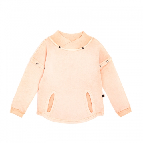 Salmon Sweatshirt fleece