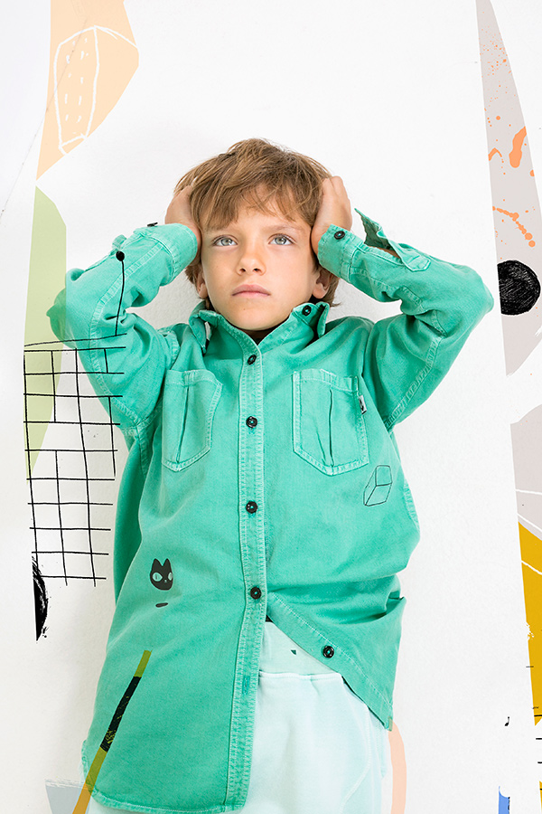 YPI KIDS WEAR SHIRT MINT aw1819