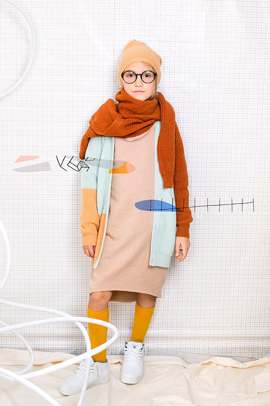 ypi kids wear aw 18 19 dress tan color